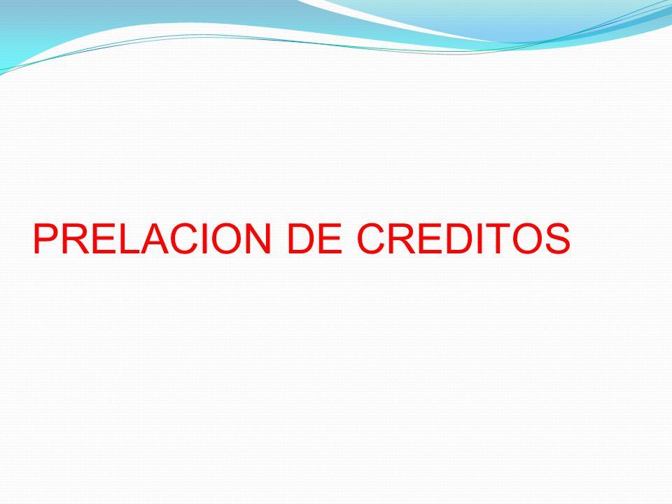 PRELACION DE CREDITOS