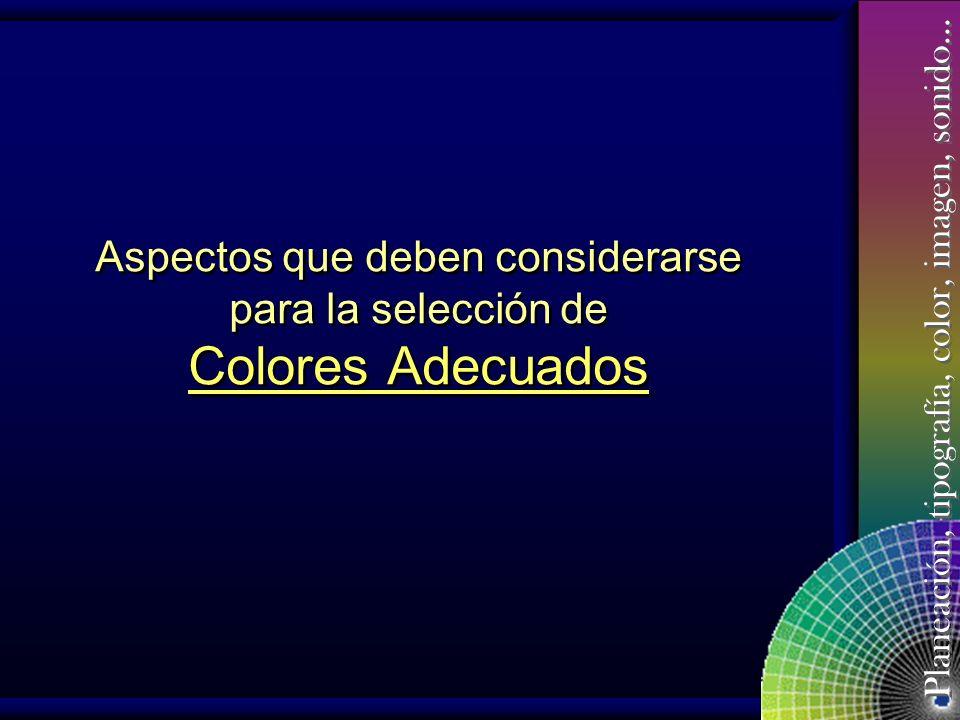 Planeación, tipografía, color, imagen, sonido… El Color F.5