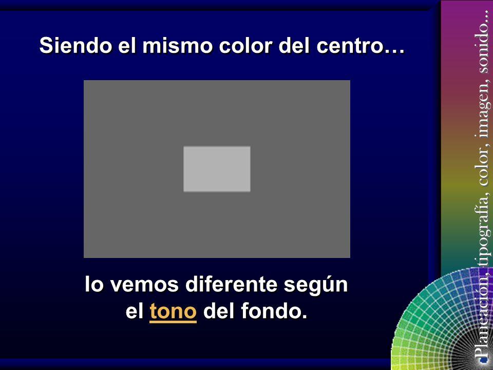 Planeación, tipografía, color, imagen, sonido… Tonos y combinaciones Cuando se hacen combinaciones, un color debe estar en los saturados y el otro en