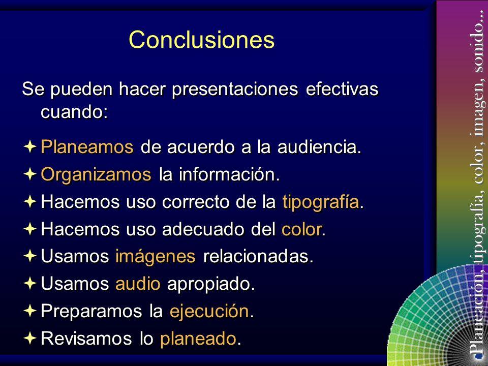 Planeación, tipografía, color, imagen, sonido… El Tiempo Se puede pulsar manualmente para pasar a la siguiente diapositiva mientras el profesor da la