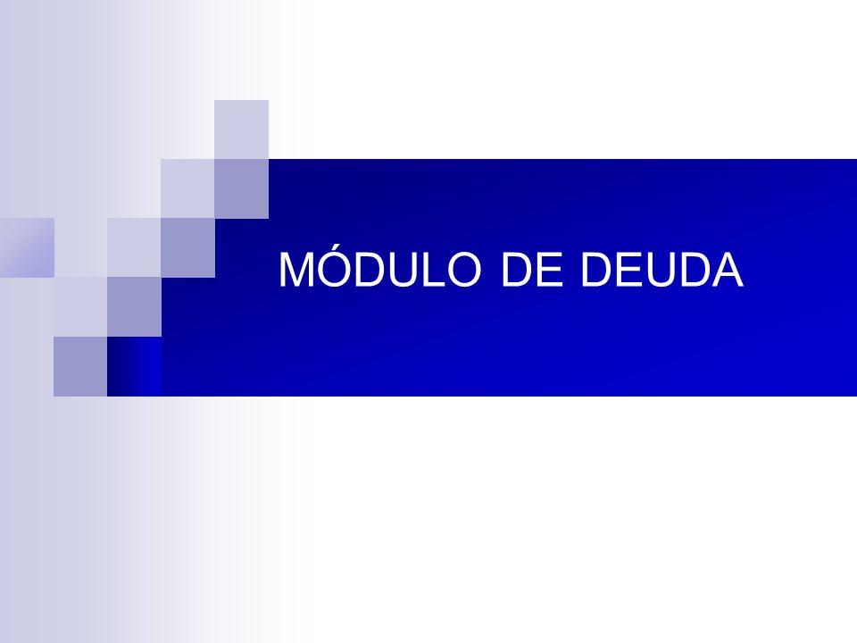 MÓDULO DE DEUDA