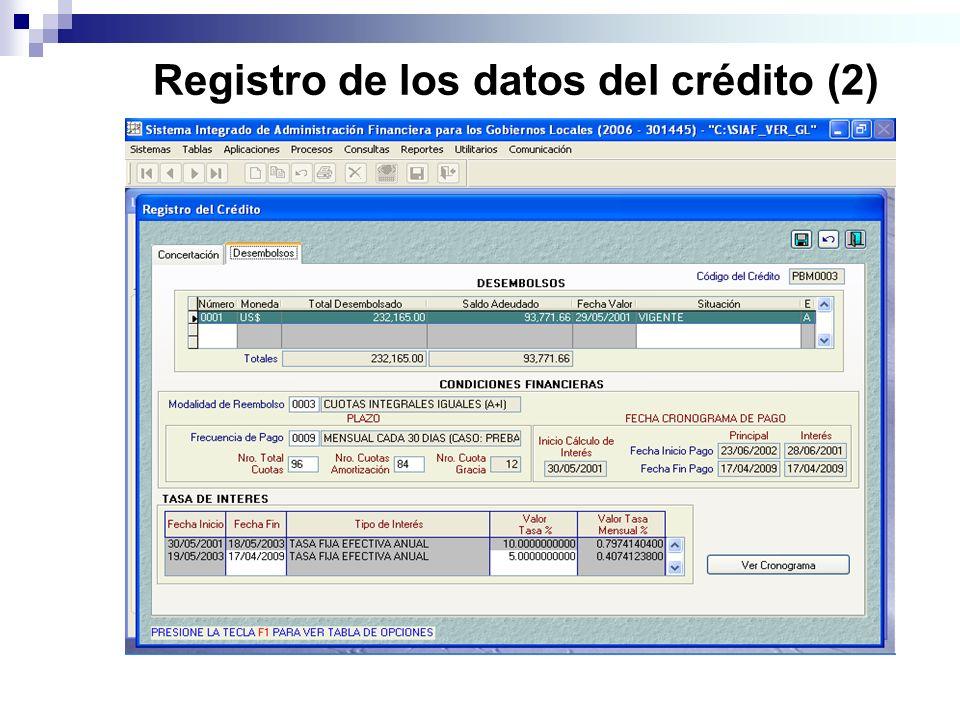 Registro de los datos del crédito (2)