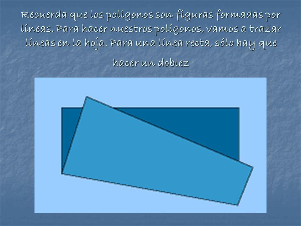 Recuerda que los polígonos son figuras formadas por líneas. Para hacer nuestros polígonos, vamos a trazar líneas en la hoja. Para una línea recta, sól