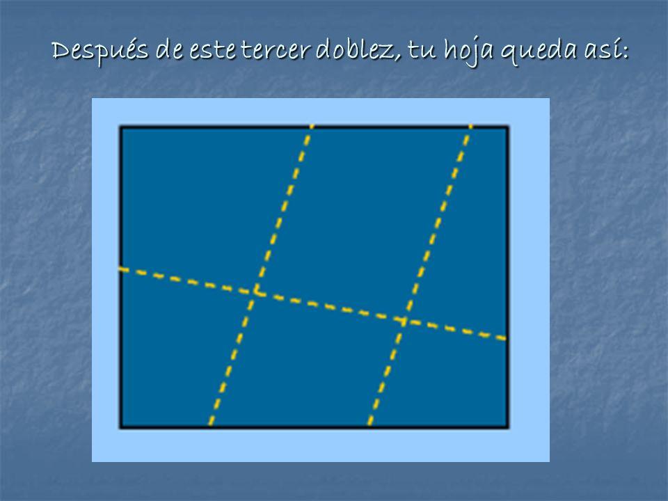 ¿Qué tipo de líneas son las trazadas en estos dos últimos dobleces.