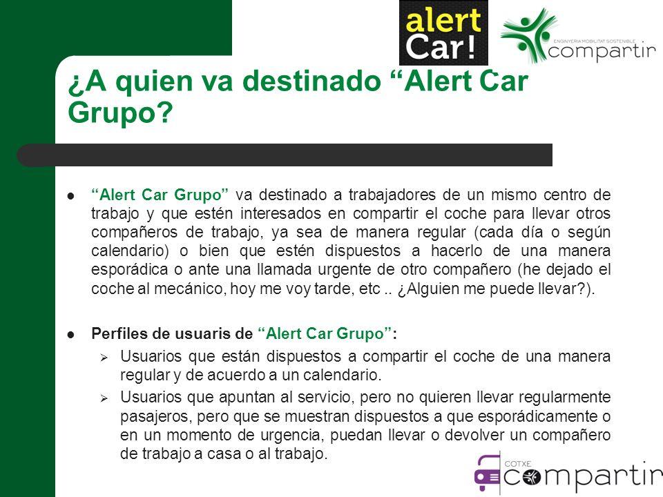 ¿A quien va destinado Alert Car Grupo.