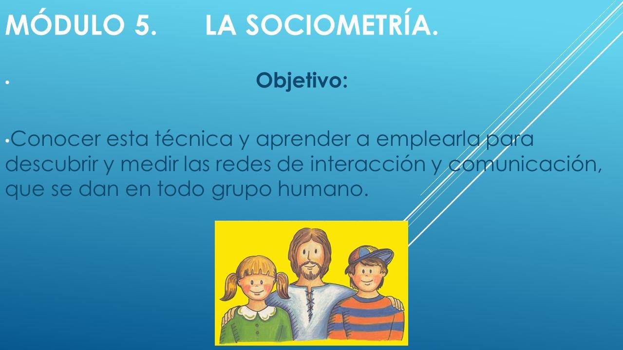 MÓDULO 5.LA SOCIOMETRÍA.