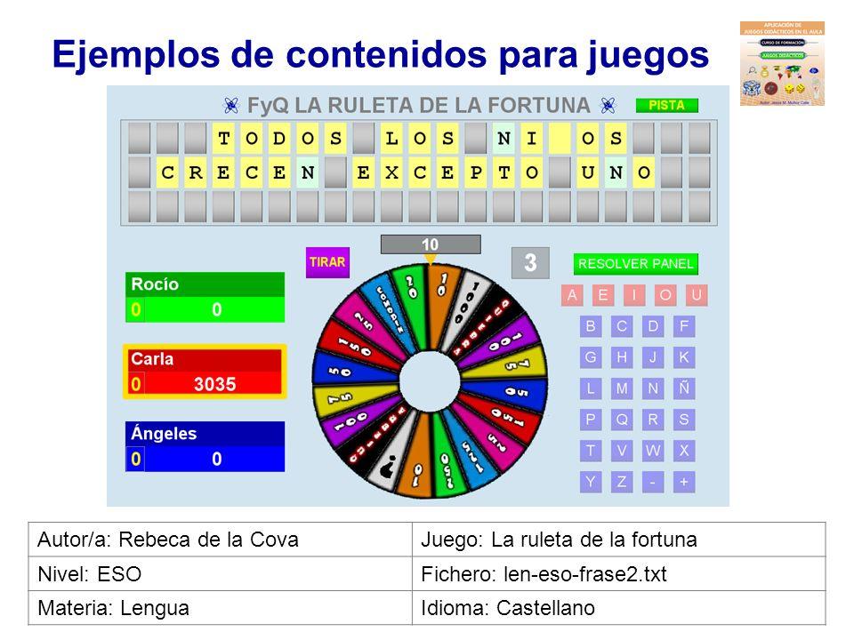 Ejemplos de contenidos para juegos Autor/a: V.Domenech, A.FortunyJuego: Pasapalabra Nivel: 6º PrimariaFichero: cno-6pri-ibers.txt Materia: Ibers i Rom