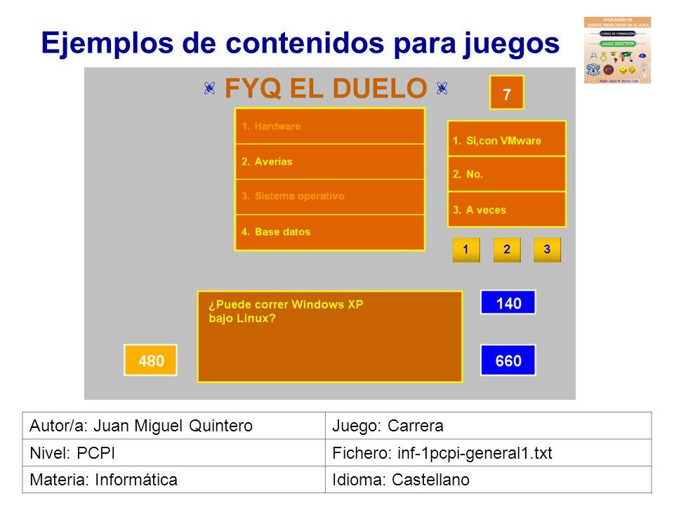 Ejemplos de contenidos para juegos Autor/a: Catalina NaranjoJuego: Minipoly Nivel: 3º ESOFichero: mat-3eso-geometria1.txt Materia: MatemáticasIdioma: