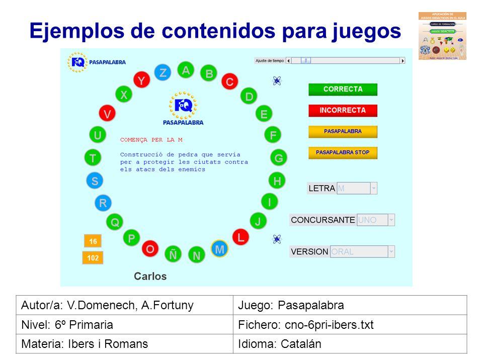 Ejemplos de contenidos para juegos Autor/a: David DuqueJuego: Baloncesto Nivel: 5º PrimariaFichero: cno-5pri-latierraeneluniverso1.txt Materia: Conoci