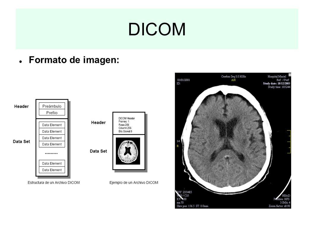 DICOM Formato de imagen: