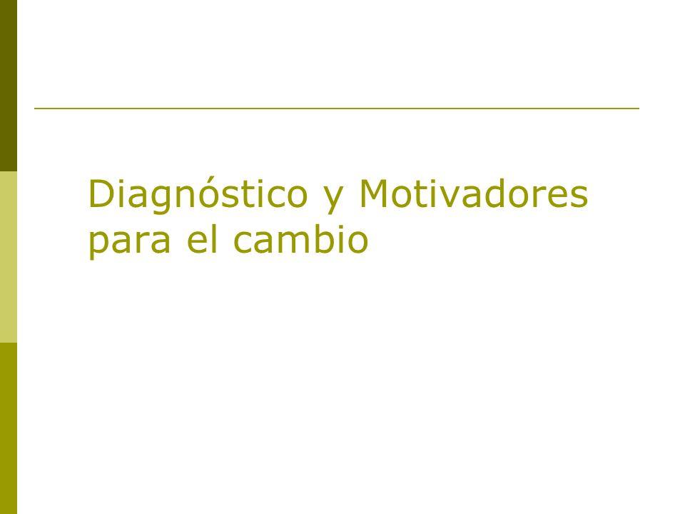 Diagnóstico y Motivadores para el cambio