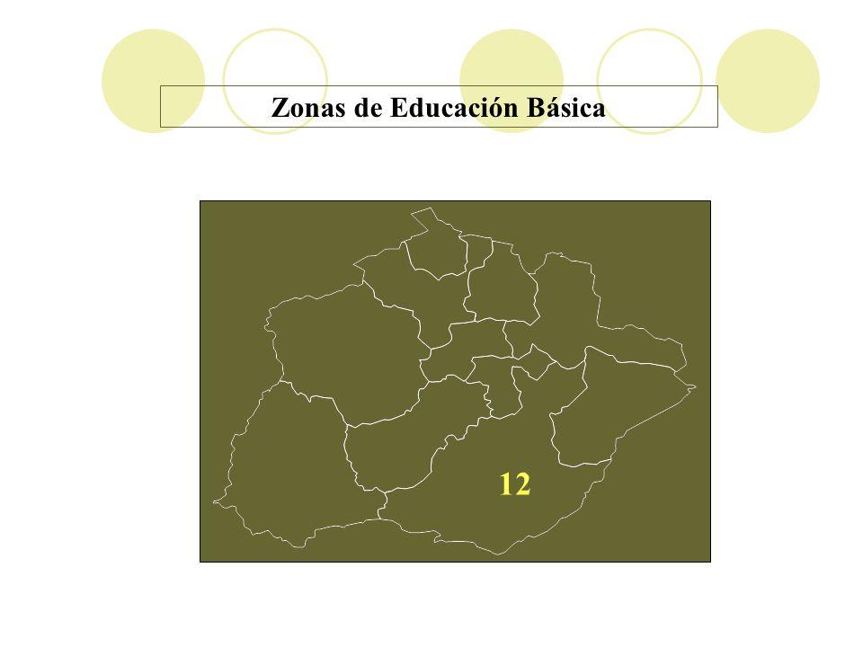 12 Zonas de Educación Básica