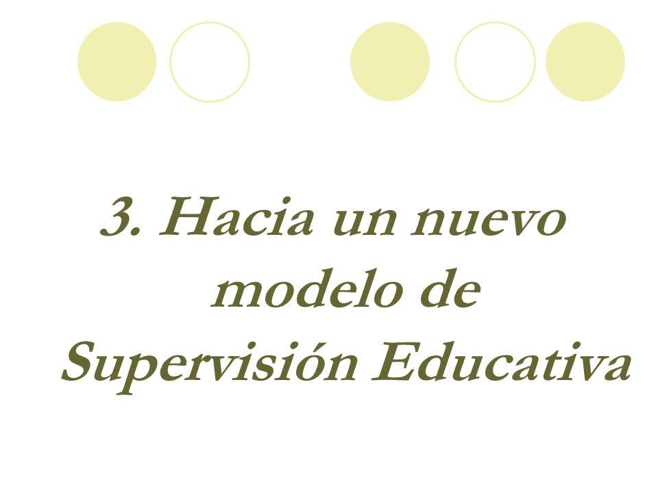 3. Hacia un nuevo modelo de Supervisión Educativa