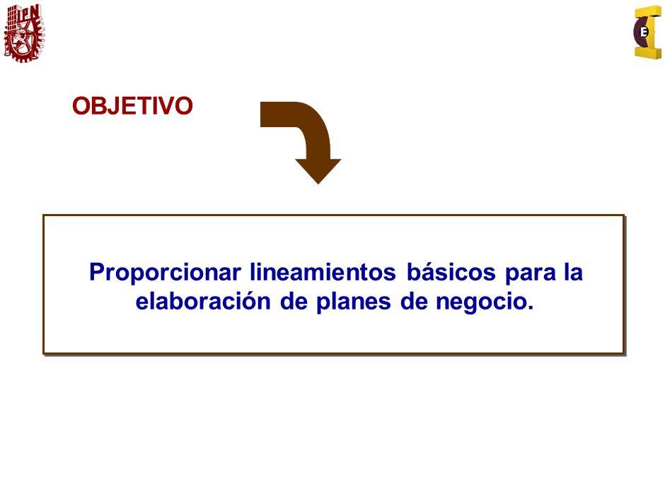 Contenido del Plan de Negocios 1.