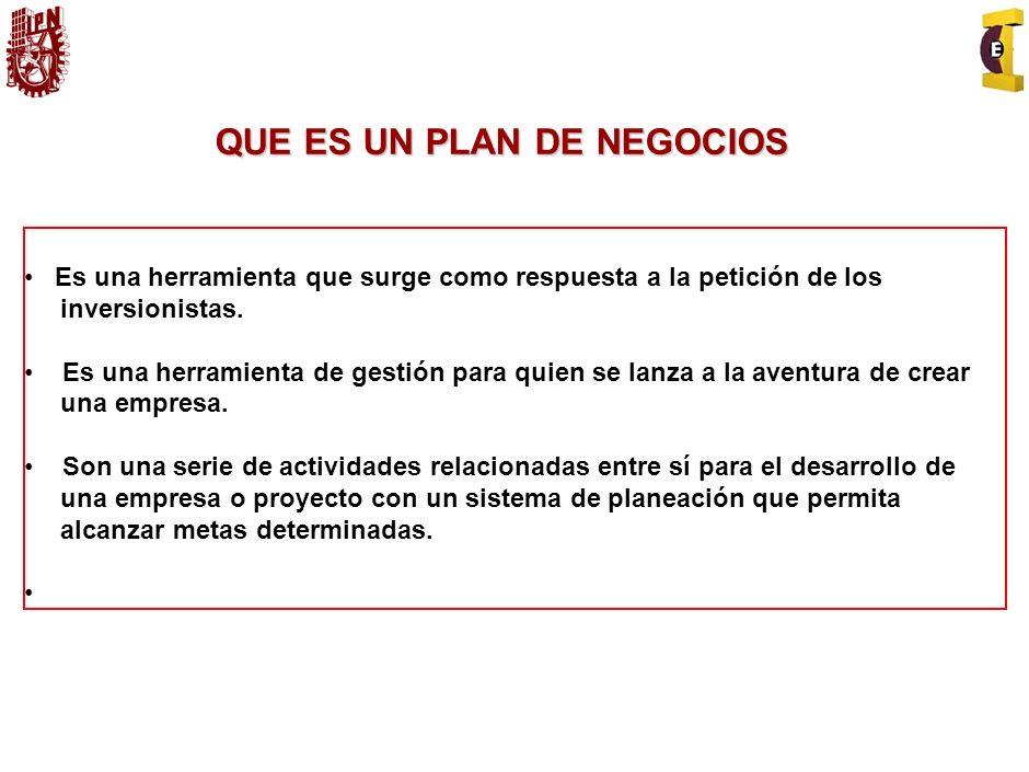 Proporcionar lineamientos básicos para la elaboración de planes de negocio. OBJETIVO