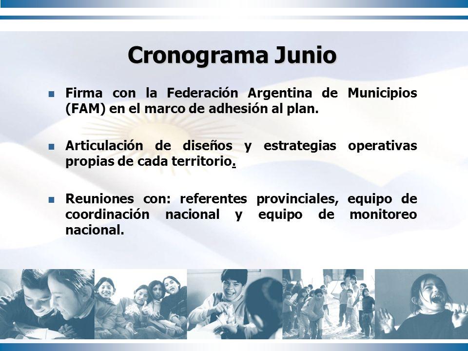 Firma con la Federación Argentina de Municipios (FAM) en el marco de adhesión al plan. Articulación de diseños y estrategias operativas propias de cad