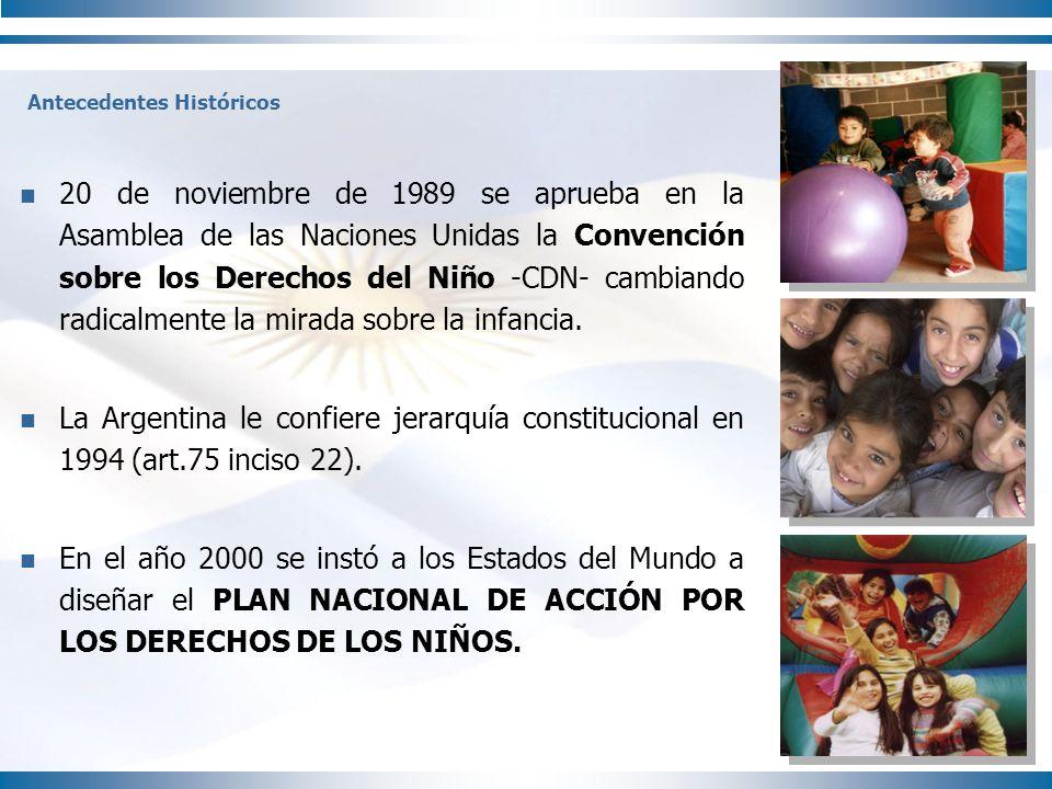 20 de noviembre de 1989 se aprueba en la Asamblea de las Naciones Unidas la Convención sobre los Derechos del Niño -CDN- cambiando radicalmente la mir
