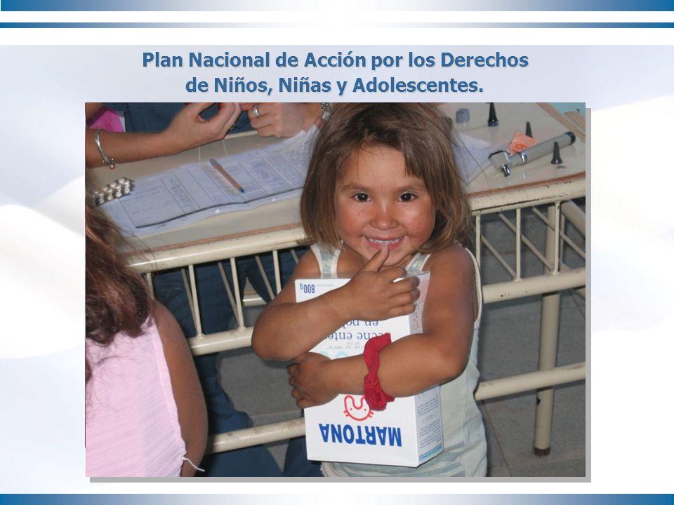 Plan Nacional de Acción por los Derechos de Niños, Niñas y Adolescentes.