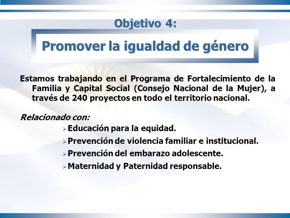 Objetivo 5: Reducir la mortalidad Infantil Disminuimos en un 12% la mortalidad infantil en todo el país.