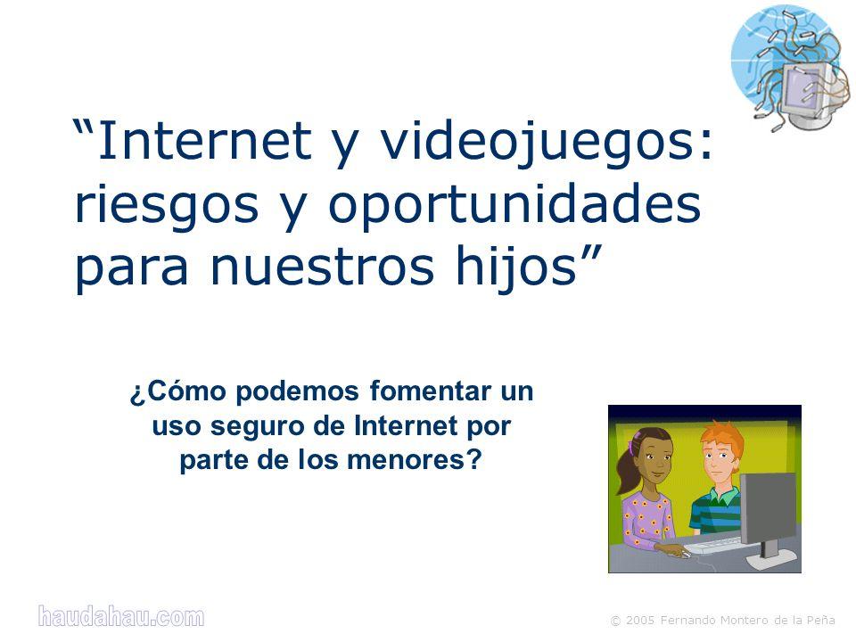 © 2005 Fernando Montero de la Peña ¿Cómo podemos fomentar un uso seguro de Internet por parte de los menores.