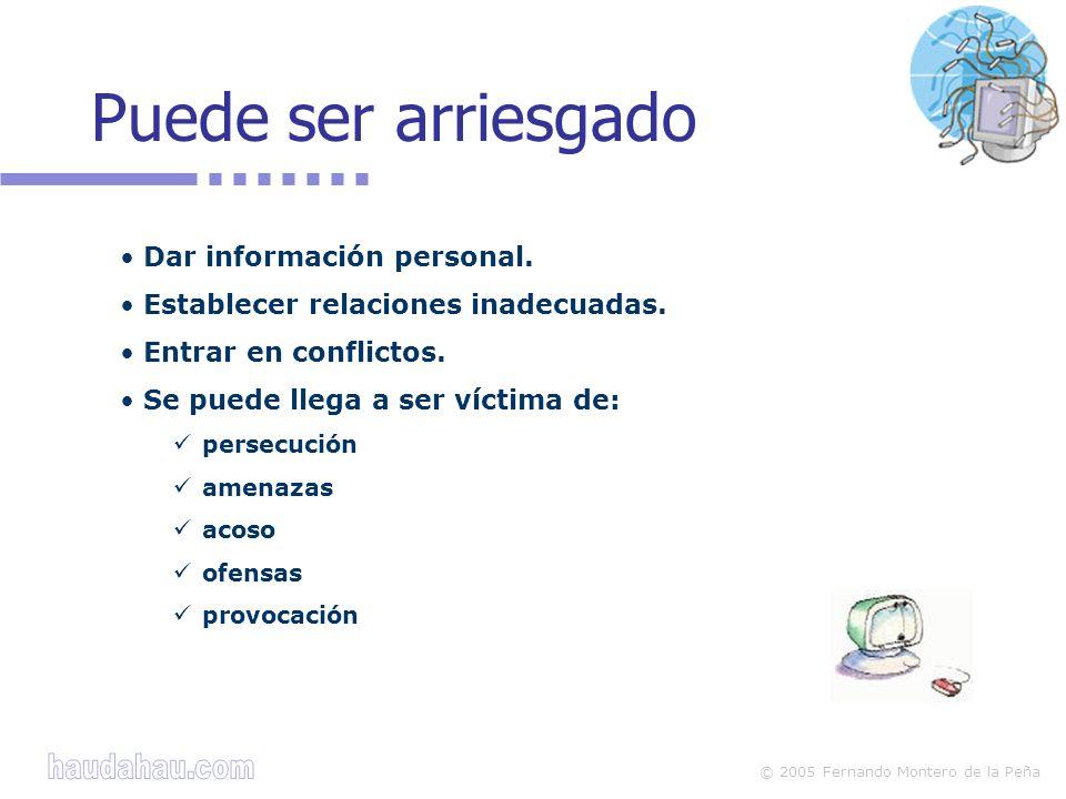 © 2005 Fernando Montero de la Peña Dar información personal.