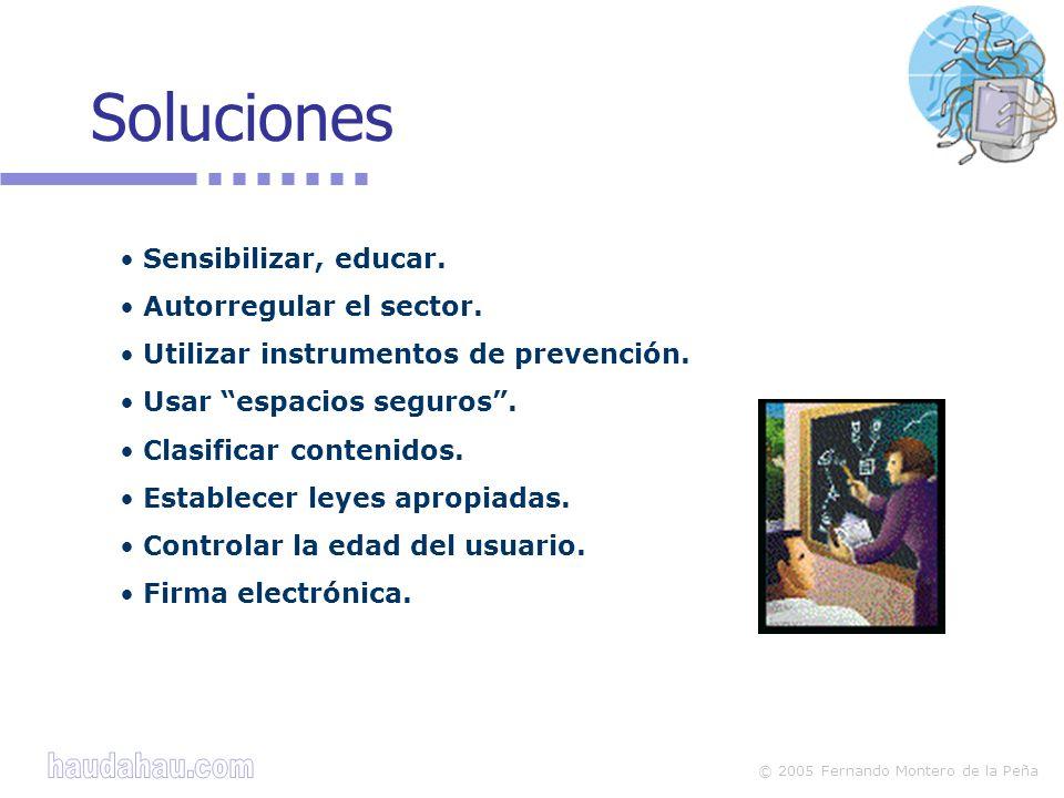 © 2005 Fernando Montero de la Peña Soluciones Sensibilizar, educar.