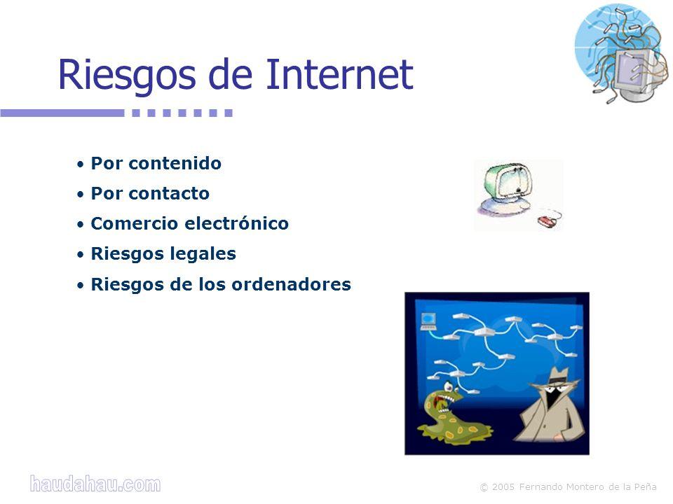 © 2005 Fernando Montero de la Peña Contenidos ilícitos pornografía, racismo, difamación, publicidad de drogas,...