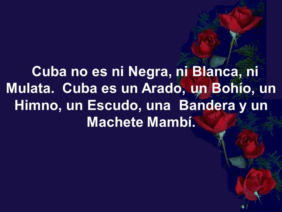 Cuba no es ni Negra, ni Blanca, ni Mulata.