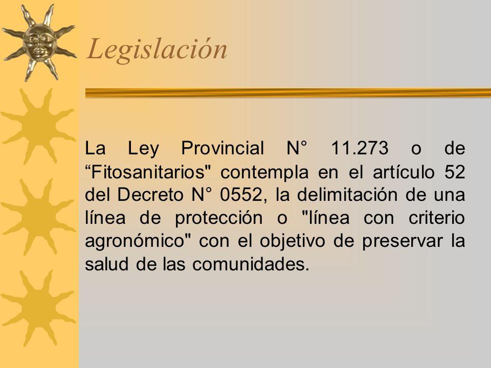 Legislación La Ley Provincial N° 11.273 o de Fitosanitarios