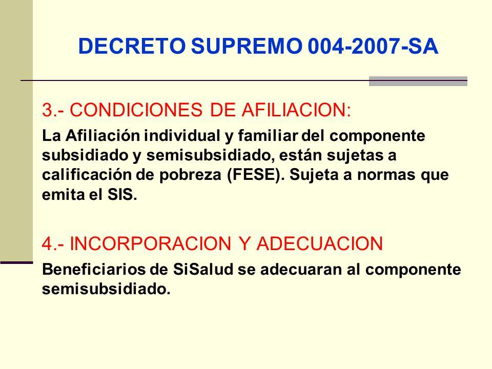 QF. CARLOS REYES BUSTAMANTE Gerencia de Operaciones Profesional de Aseguramiento 3.- CONDICIONES DE AFILIACION: La Afiliación individual y familiar de
