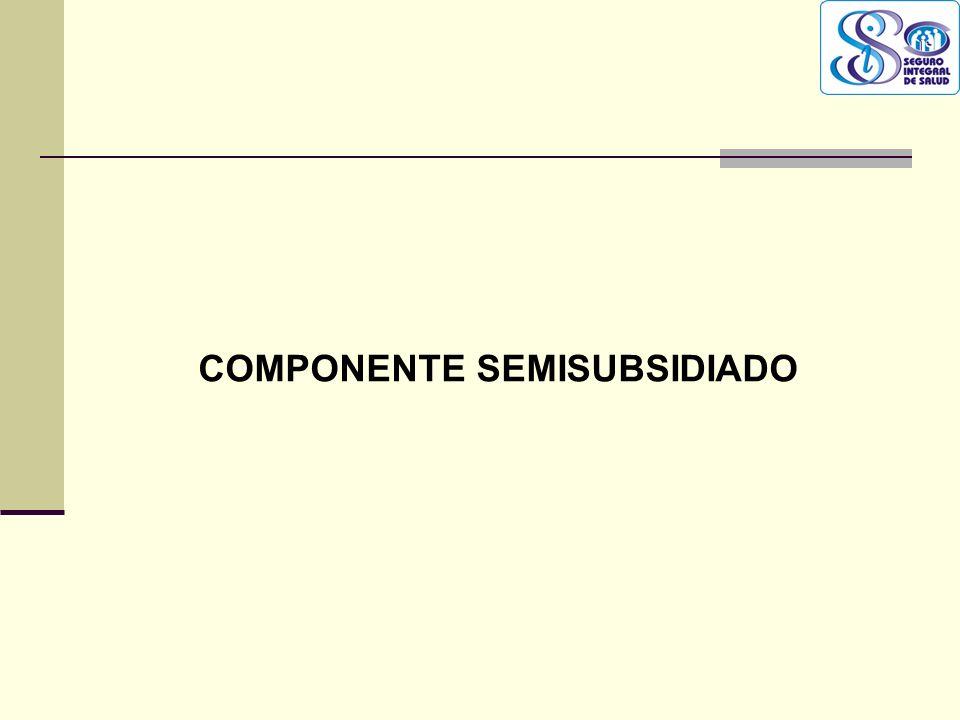 QF. CARLOS REYES BUSTAMANTE Gerencia de Operaciones Profesional de Aseguramiento COMPONENTE SEMISUBSIDIADO