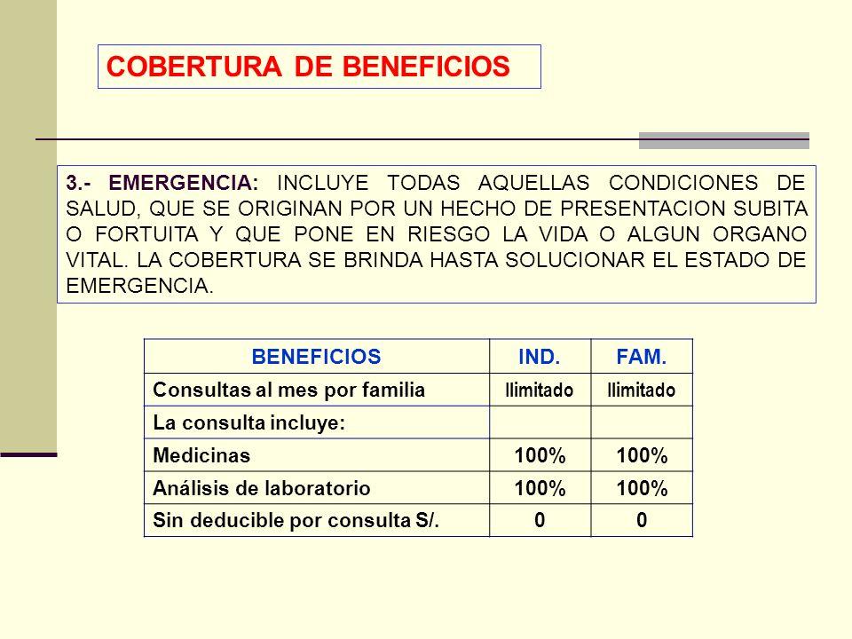 QF. CARLOS REYES BUSTAMANTE Gerencia de Operaciones Profesional de Aseguramiento 3.- EMERGENCIA: INCLUYE TODAS AQUELLAS CONDICIONES DE SALUD, QUE SE O