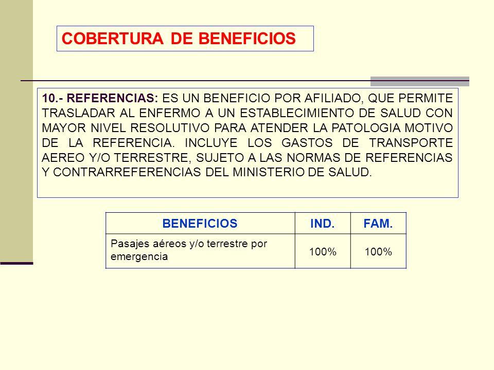 QF. CARLOS REYES BUSTAMANTE Gerencia de Operaciones Profesional de Aseguramiento 10.- REFERENCIAS: ES UN BENEFICIO POR AFILIADO, QUE PERMITE TRASLADAR