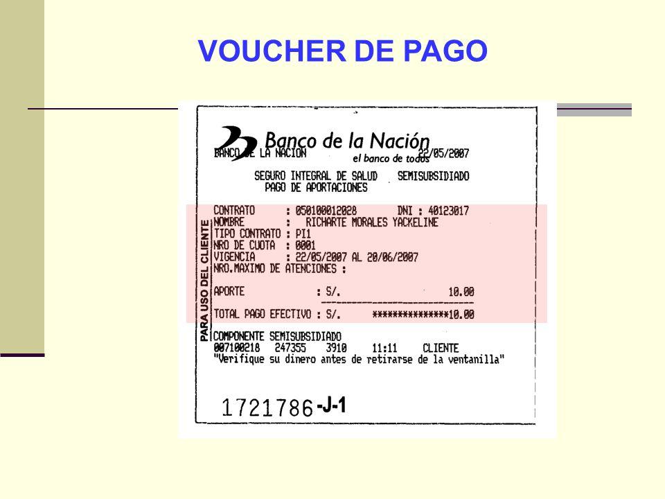 QF. CARLOS REYES BUSTAMANTE Gerencia de Operaciones Profesional de Aseguramiento VOUCHER DE PAGO