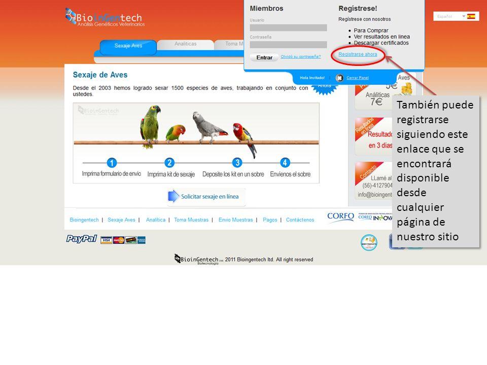 La pantalla de registro de usuario consiste en un formulario muy sencillo con la información básica que nosotros necesitamos para poder contactarle en caso de ser necesario Para una información más detallada de cómo llenar este formulario y cuales son los caracteres permitidos en cada campo lea el Manual Registro de Usuarios