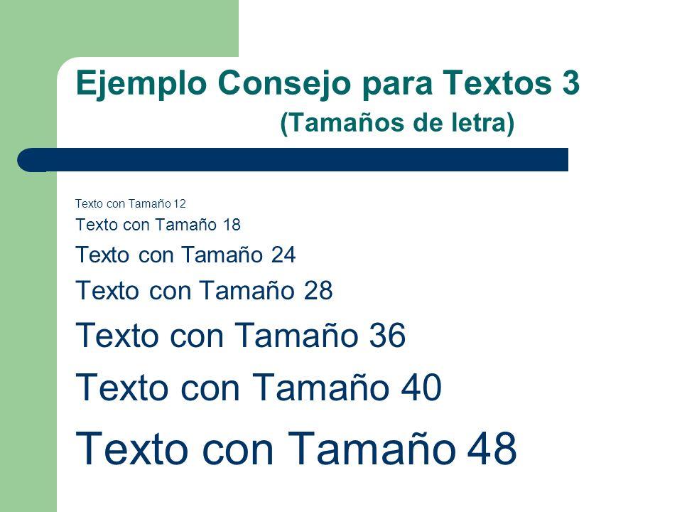 Ejemplo Consejo para Textos 1 (Contenido escaso) Esto es una prueba de texto esto es una prueba de texto