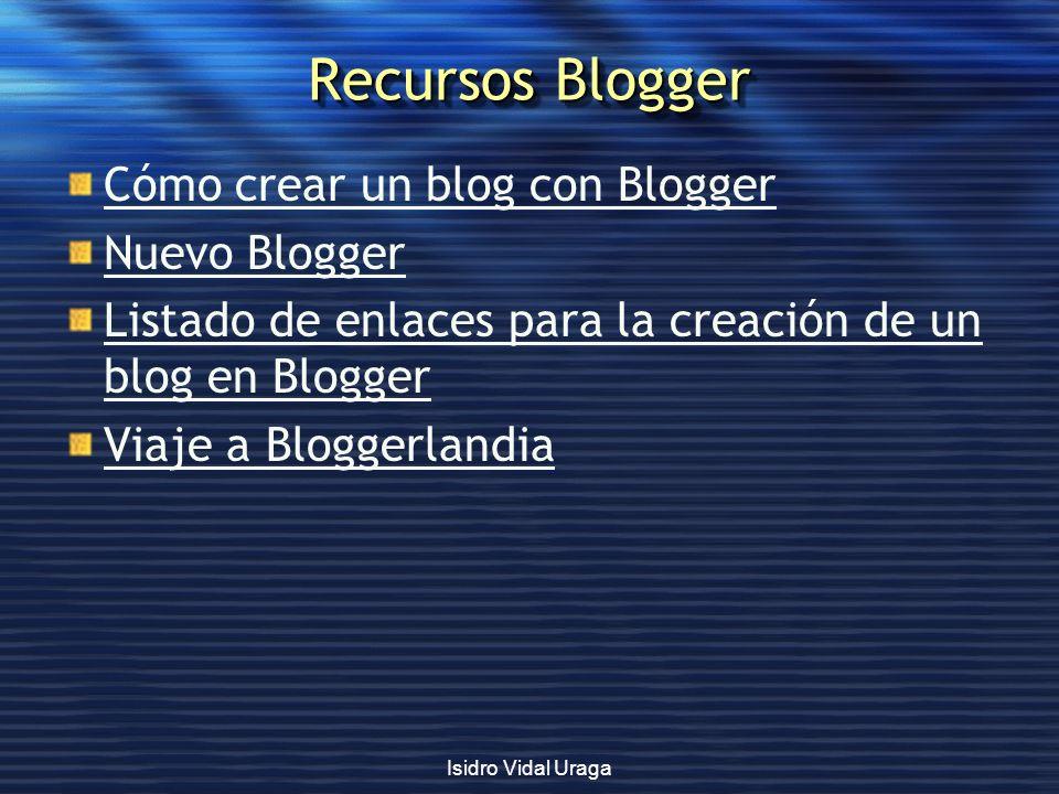 Recursos Blogger Cómo crear un blog con Blogger Nuevo Blogger Listado de enlaces para la creación de un blog en Blogger Viaje a Bloggerlandia