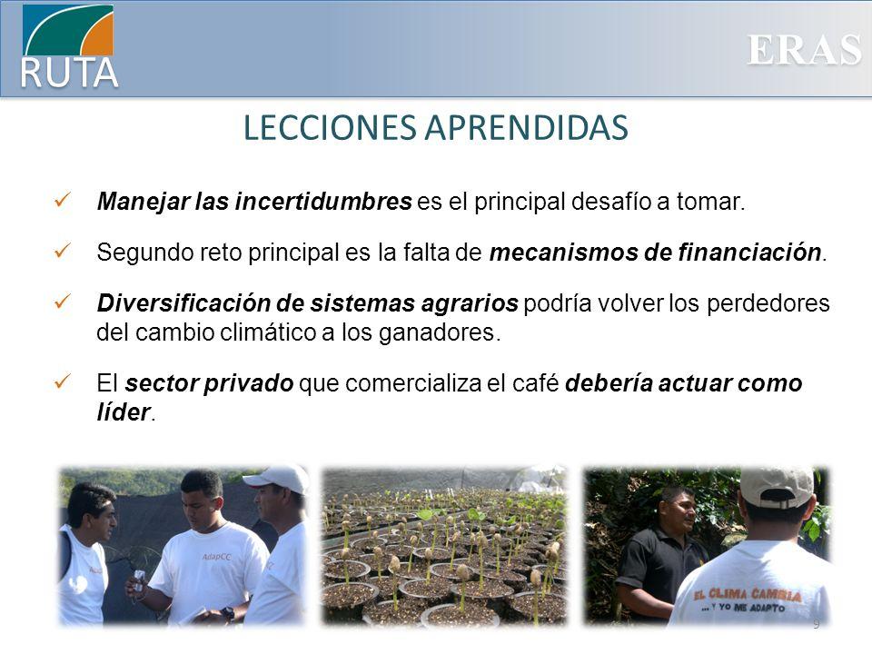 ERAS RUTA Estrategia de la Adaptación en la Agricultura en C.A.