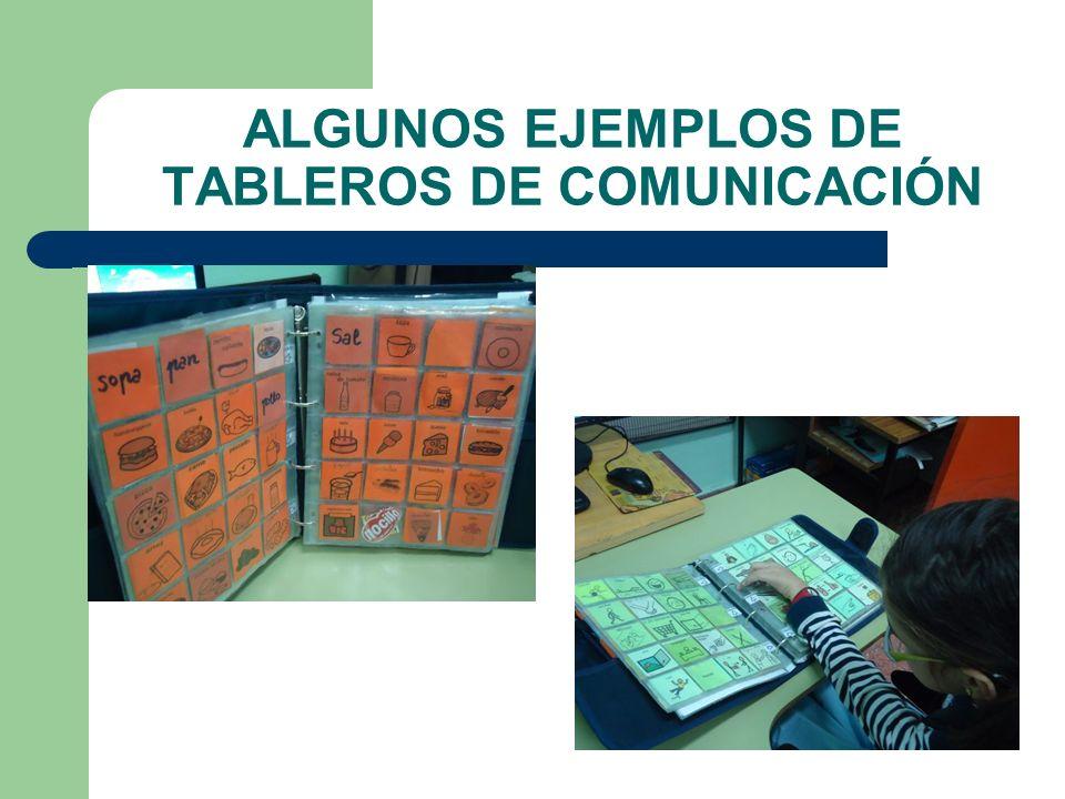 ALGUNOS EJEMPLOS DE TABLEROS DE COMUNICACIÓN