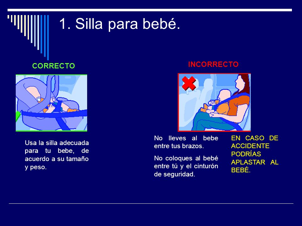 2.Silla para bebé.