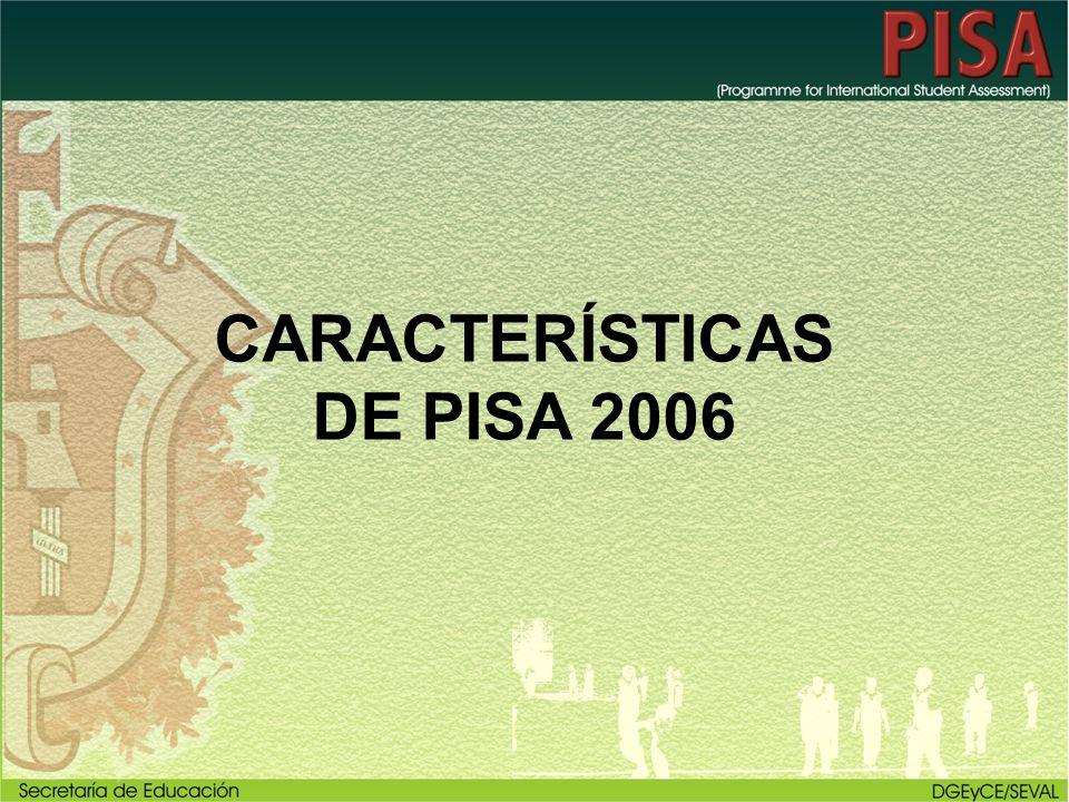 CARACTERÍSTICAS DE PISA 2006