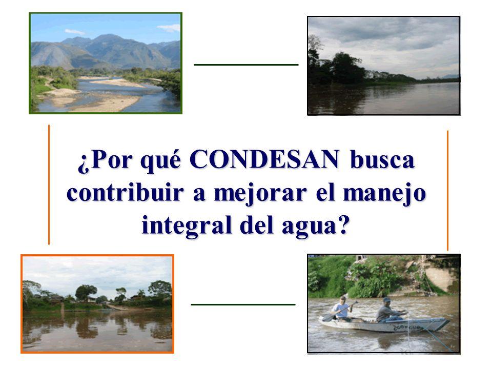 ¿Por qué CONDESAN busca contribuir a mejorar el manejo integral del agua?