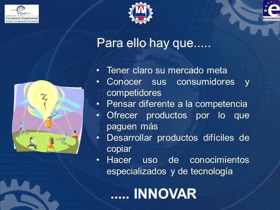 GENERACIÓN DE NUEVAS IDEAS FUENTES DE NUEVAS IDEAS: Consumidores Productos y servicios existentes Canales de distribución Investigación y Desarrollo Mercados nuevos Nuevas tecnologías