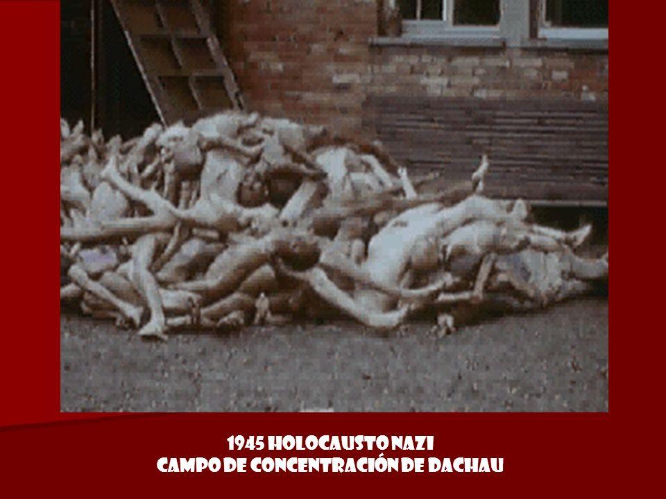 1945 Holocausto Nazi Campo de concentración de Dachau