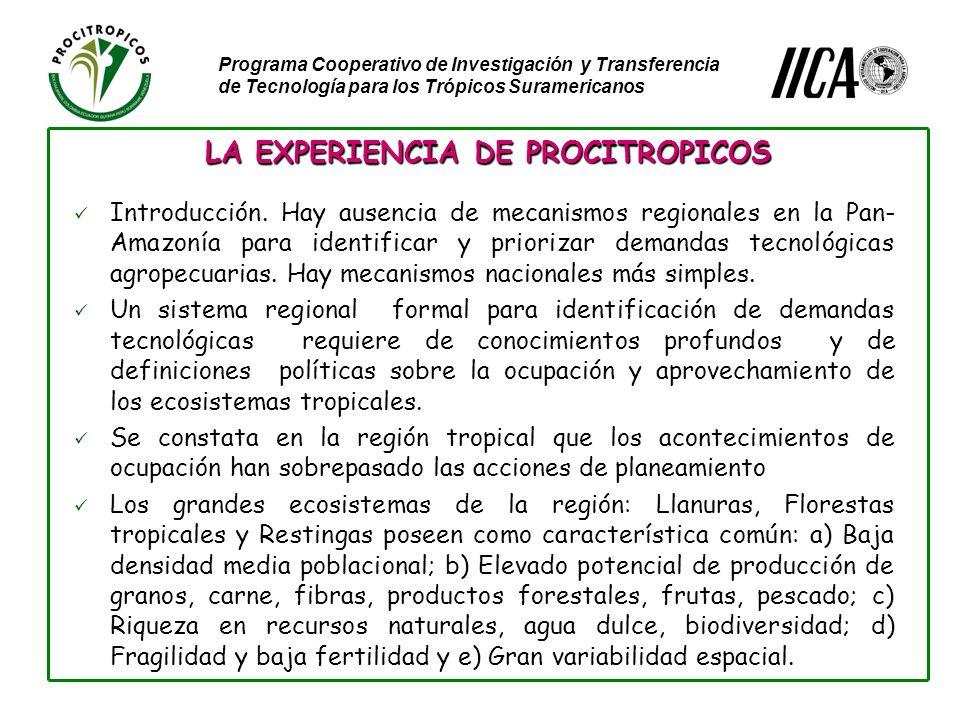 Programa Cooperativo de Investigación y Transferencia de Tecnología para los Trópicos Suramericanos Introducción.