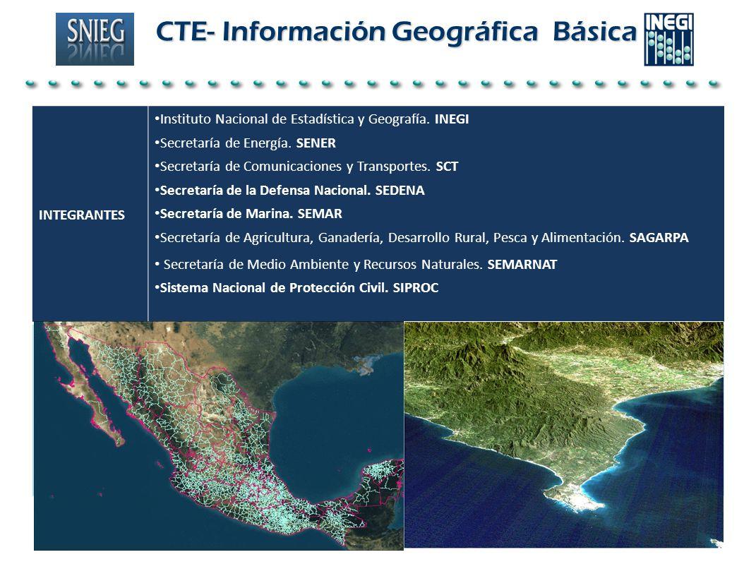 CTE- Información Geográfica Básica CTE- Información Geográfica Básica INTEGRANTES Instituto Nacional de Estadística y Geografía. INEGI Secretaría de E