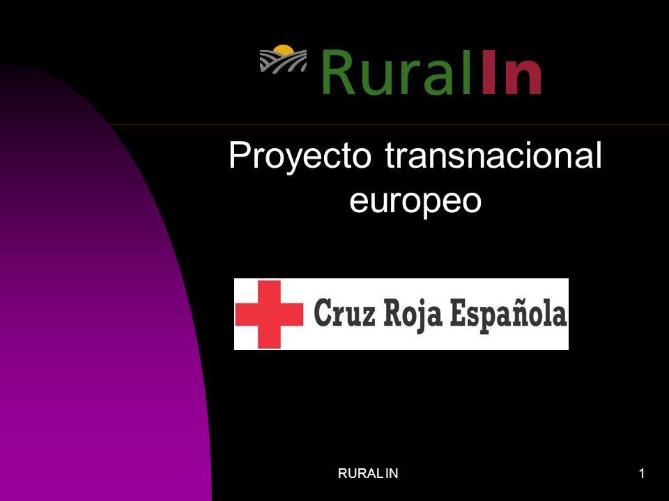 RURAL IN12 IMPORTANCIA PARA CRUZ ROJA ESPAÑOLA Cruz Roja tiene más de 800 asambleas locales.