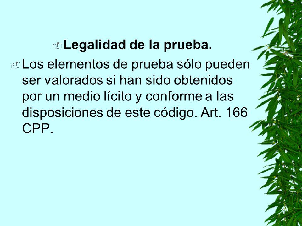 Legalidad de la prueba.