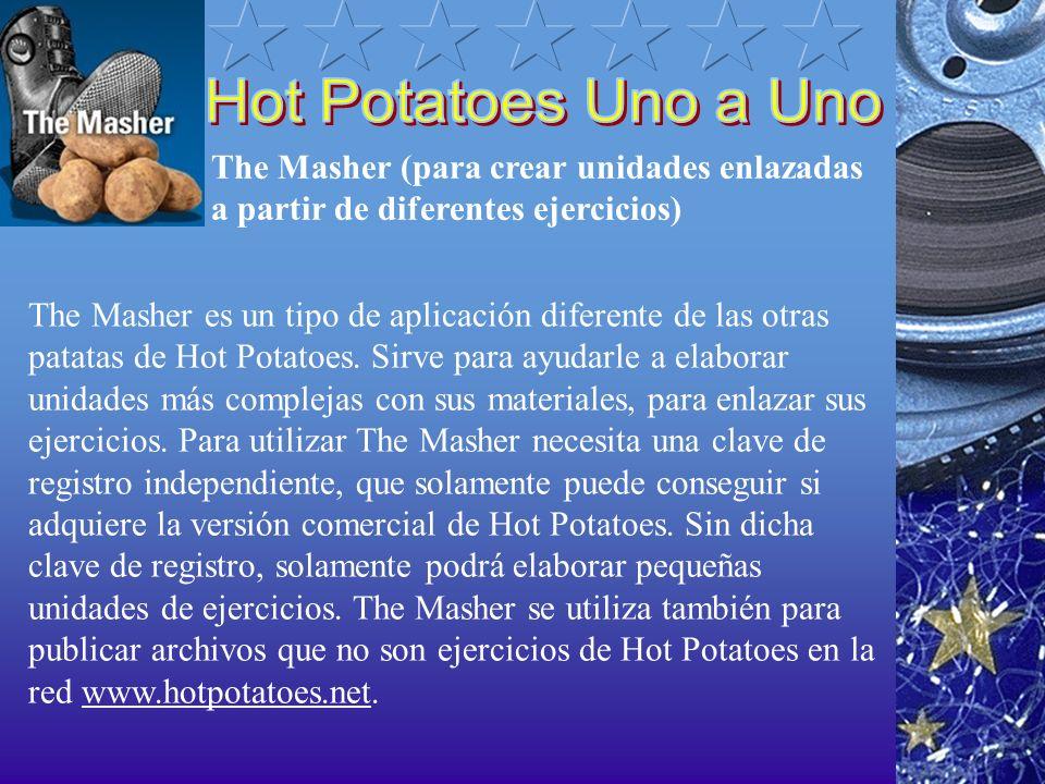 The Masher (para crear unidades enlazadas a partir de diferentes ejercicios) The Masher es un tipo de aplicación diferente de las otras patatas de Hot