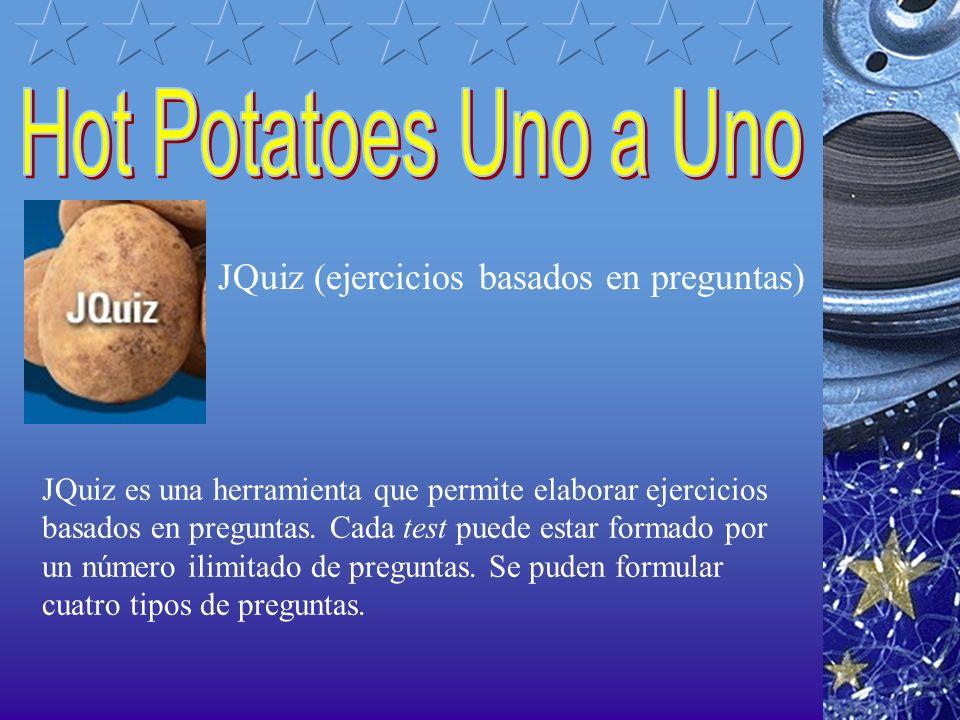The Masher (para crear unidades enlazadas a partir de diferentes ejercicios) The Masher es un tipo de aplicación diferente de las otras patatas de Hot Potatoes.